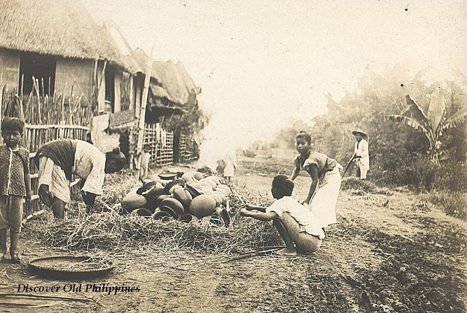 A freshly baked lot of pottery 1900s pasig rizal from