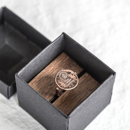 Enement Ring Box | Mesele Seal Ring Packaging Of Element Earth Symbol Mesele Muhur