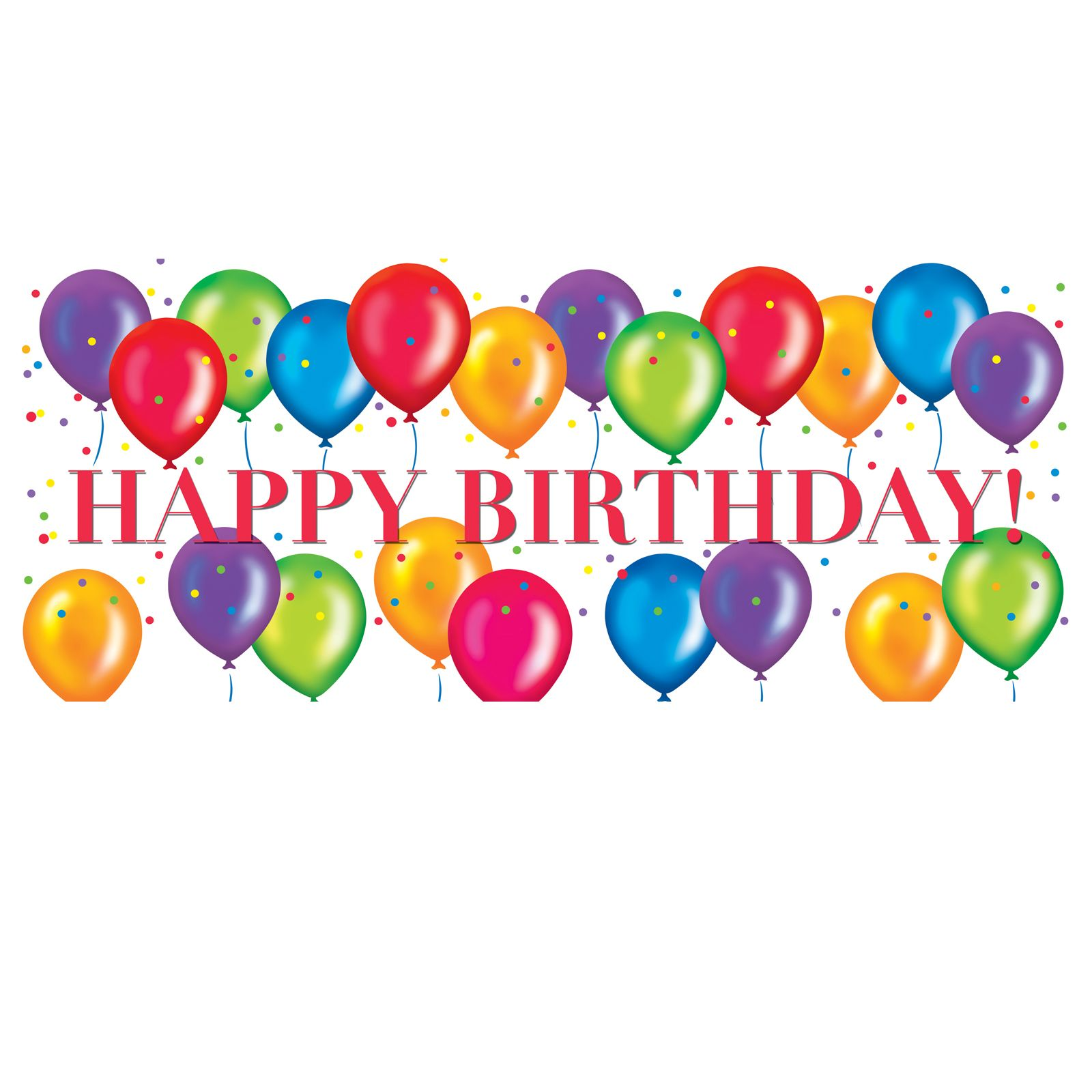 Birthday Balloons Clip Art Free: Free Happy Birthday Graphics