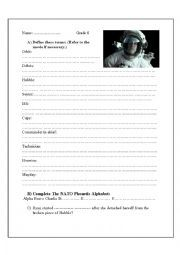 English worksheet: Gravity (2013) Movie Worksheet   Projects to Try ...