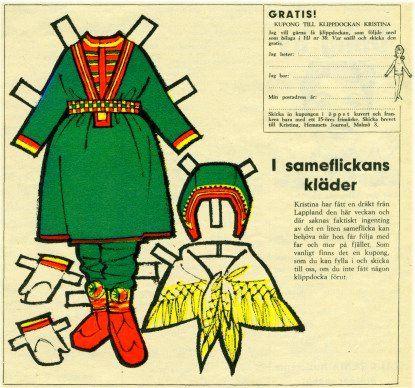 Swedish paper doll clothes for Kristen #16 / maggansklippdockor