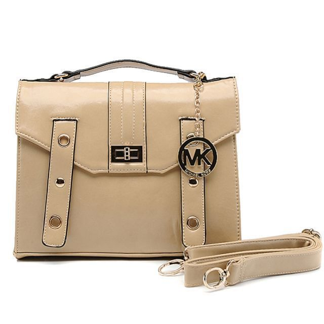 Michael Kors Outlet Lock Medium Beige Crossbody Bags