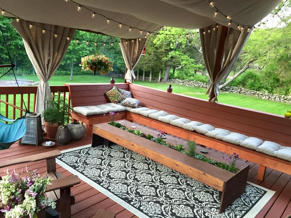 A few DIY back yard deck and porch ideas I picked up from ...