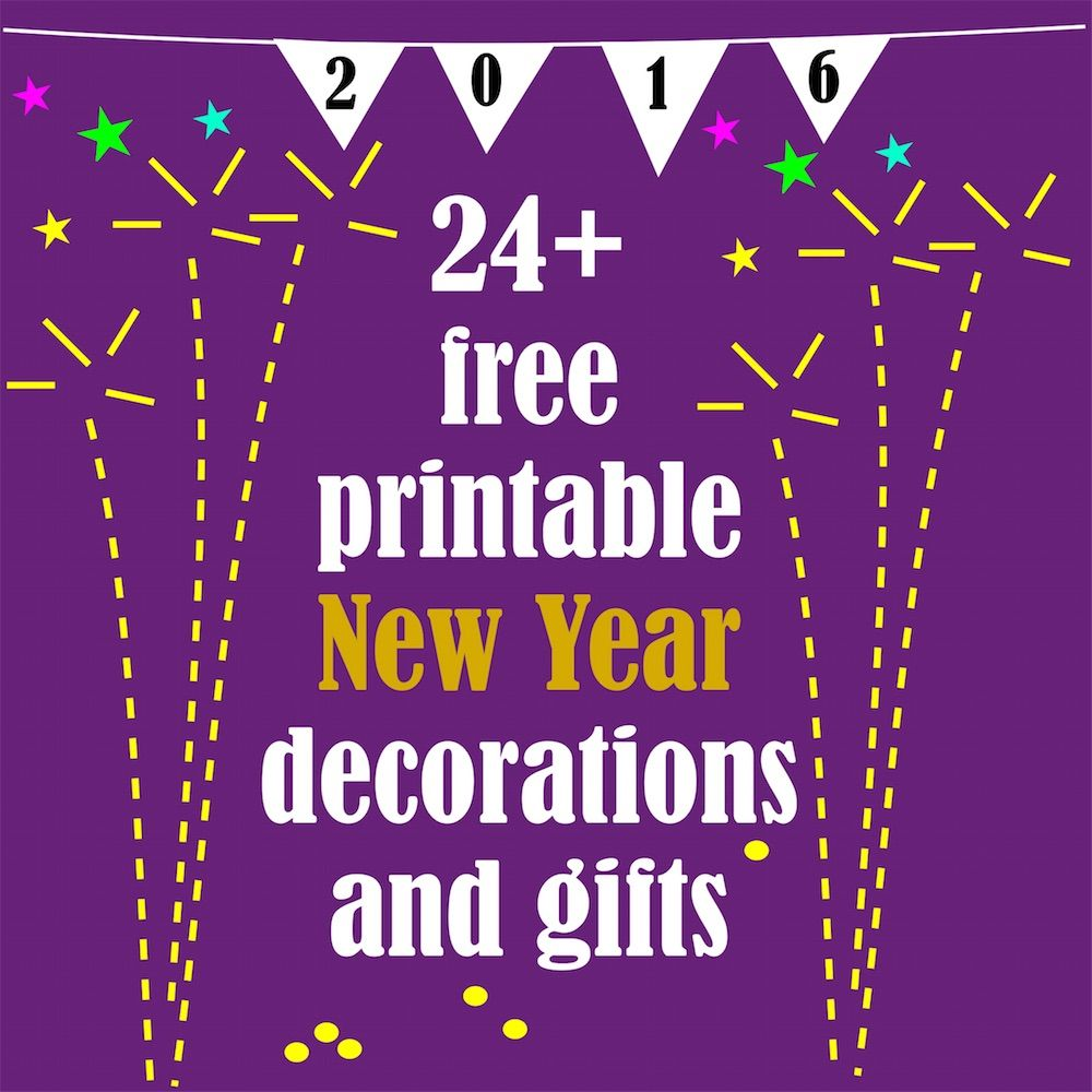 Free printable New Year 2016 decorations - Silvester ...