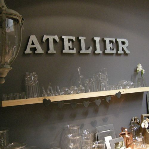 Lettres g antes atelier en zinc athezza les ateliers for Miroir convexe deco