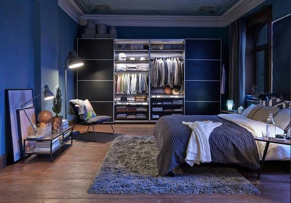 Ordinaire Contemporary Bachelor Bedroom Ideas Blue Interior Bedroom Closet Ideas