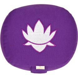 Photo of Yogakissen oval Lotus Stick Basic, lila YogaboxYogabox