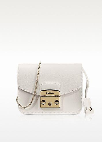 Furla Metropolis Petalo Leather Mini Crossbody Bag Bags Canvas Lining Shoulder Hand