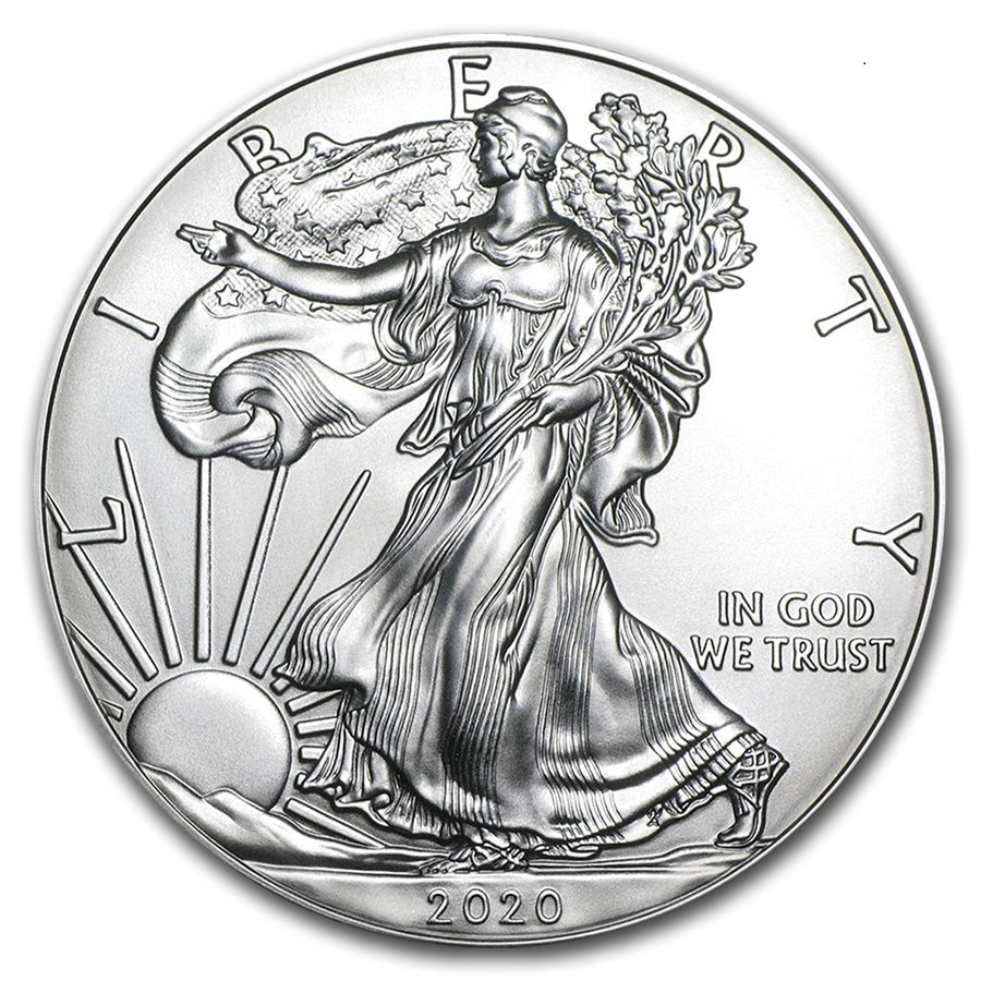 Lot Of 5 2020 1 Oz American Silver Eagle Coins Bu Air Tite In 2020 Silver Eagle Coins Silver Bullion Silver Coins