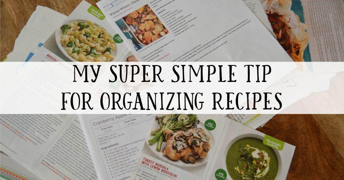 Easy Recipe Organization Idea #Easy #food and wine Magazine Recipes #Idea #Magaz