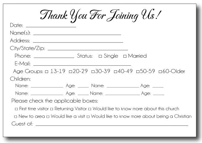 Free Printable Pew Cards  Google Search  Church Items