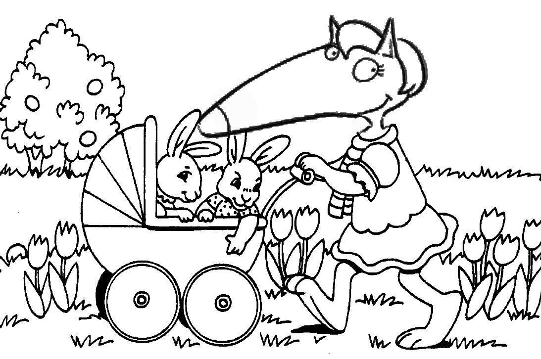 Coloriage De Paques Sur Hugo Lescargot.Maman Loup Le Loup Ausmalbilder Ausmalen Et Ostern