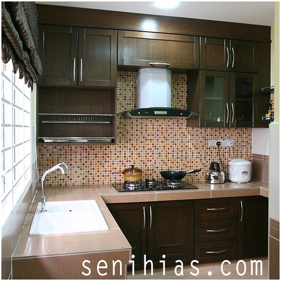 Dapur kabinet moden cake ideas and designs rekabentuk for Small kitchen kabinet