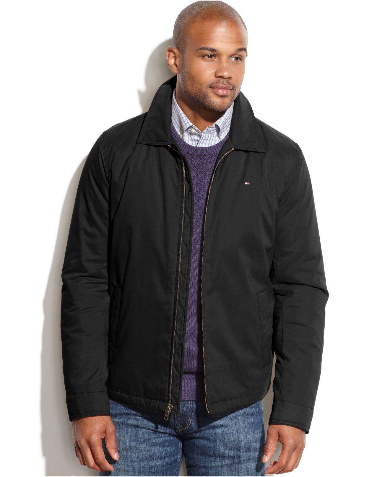 Tommy Hilfiger Full Zip Microtwill Jacket Coats Jackets Men Macy S Mens Jackets Tommy Hilfiger Jackets [ 1616 x 1320 Pixel ]