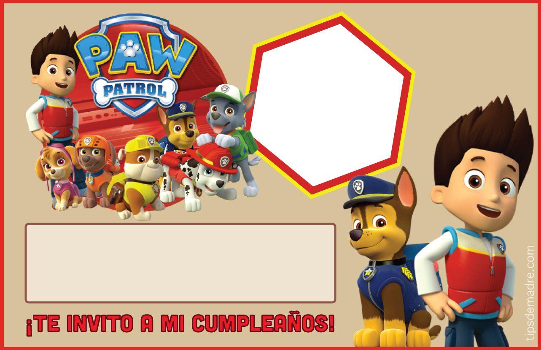 Paw Patrol Entra En Acción Ideas Para Fiesta De Cumpleaños Invitacion Cumpleaños Niño Invitaciones De Paw Patrol Tarjetas De Cumpleaños Para Niños