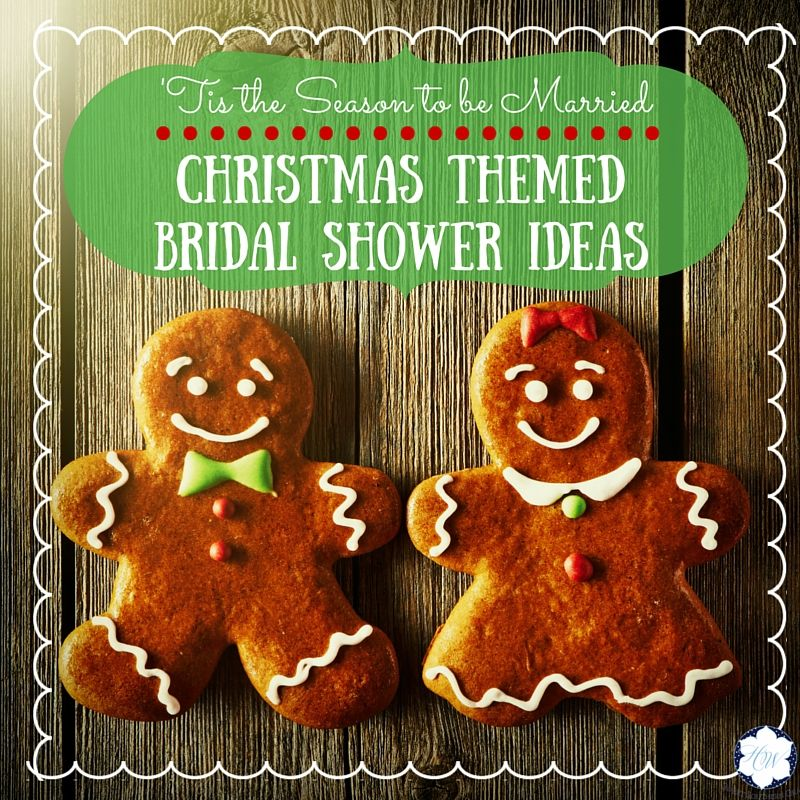 christmas themed bridal shower ideas