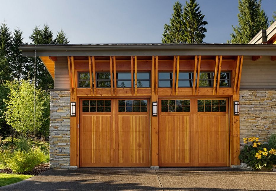 How To Choose The Right Style Garage For Your Home Craftsman Style Garage Doors Garage Doors Wood Garage Doors