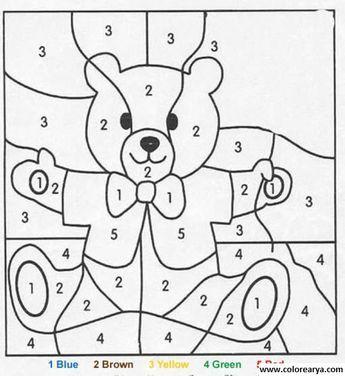 Resultado De Imagen Para Dibujos Para Colorear Con Números Numeros
