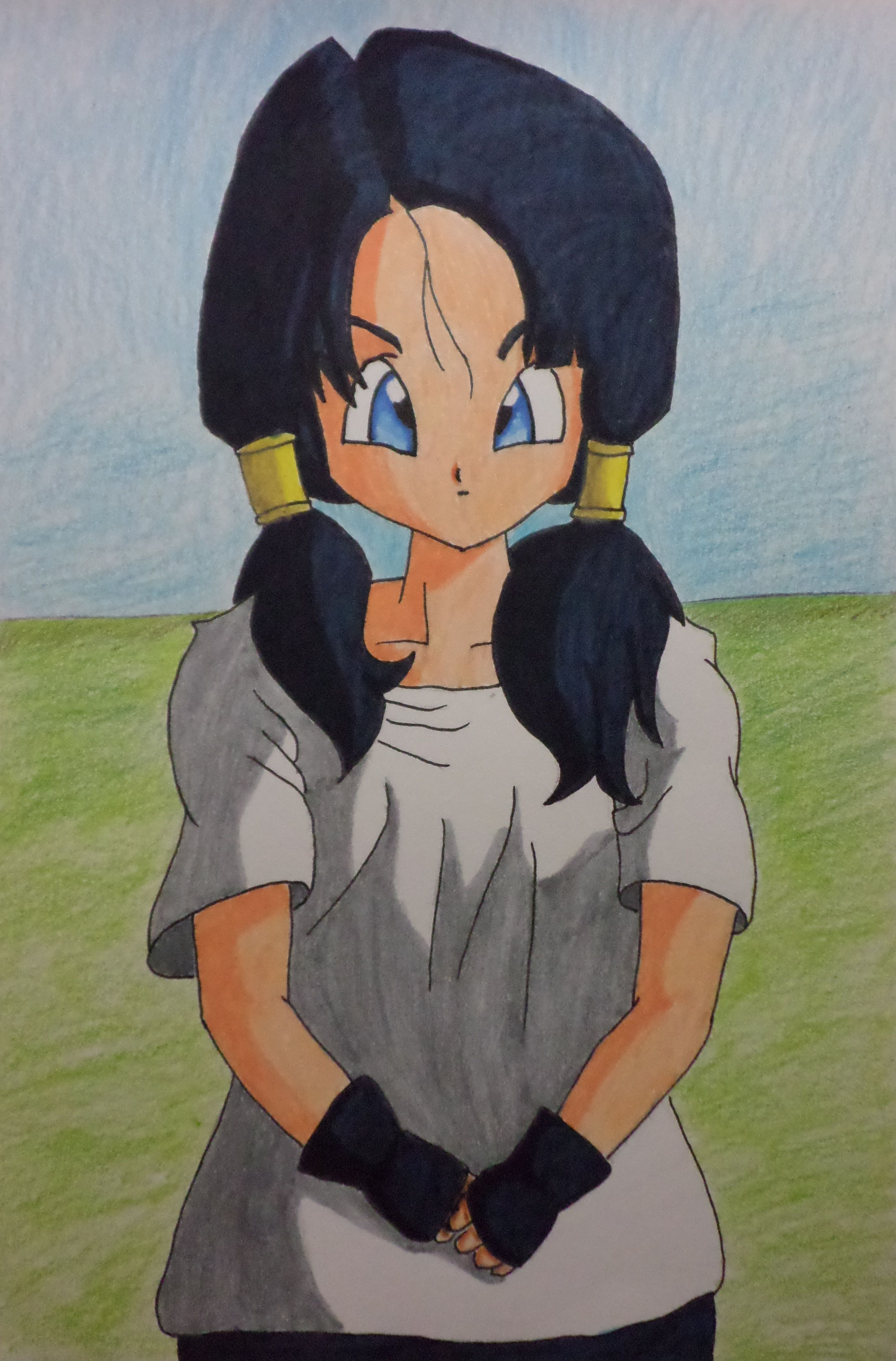 32 Desenhando Speed drawing and painting Videl