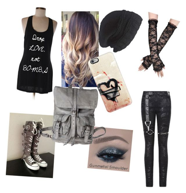 """""""Silver"""" by emo-neko-girl045 on Polyvore featuring beauty, Converse, Casetify and Laundromat"""