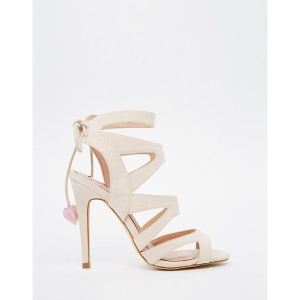 Miss KG Frenchy Strappy Heeled Sandals With Heart Tie at