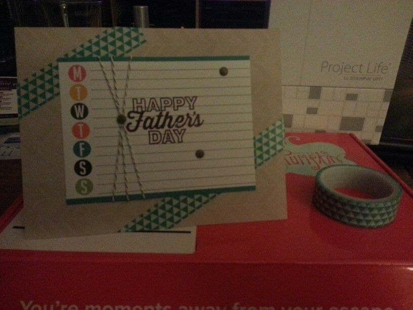 CYCI we 22 father's day case. Used stampin Up! Paper Pumpkin and Project Life supplies.