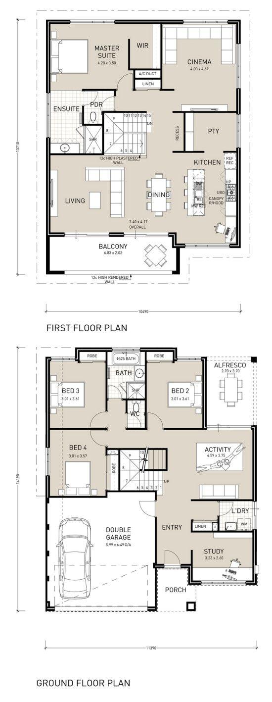 Upside down living home design double storey also house rh pinterest