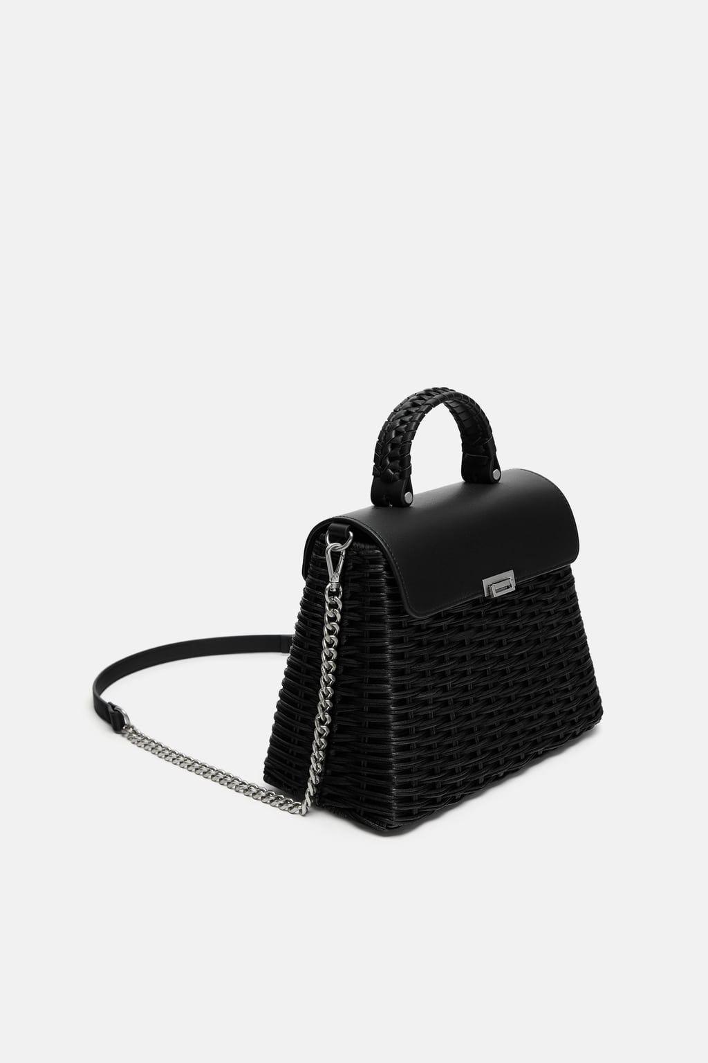 557e5bb5de7bc Woven handbag in 2019 | G A R M E N T S | Handbags, Zara, Best ...