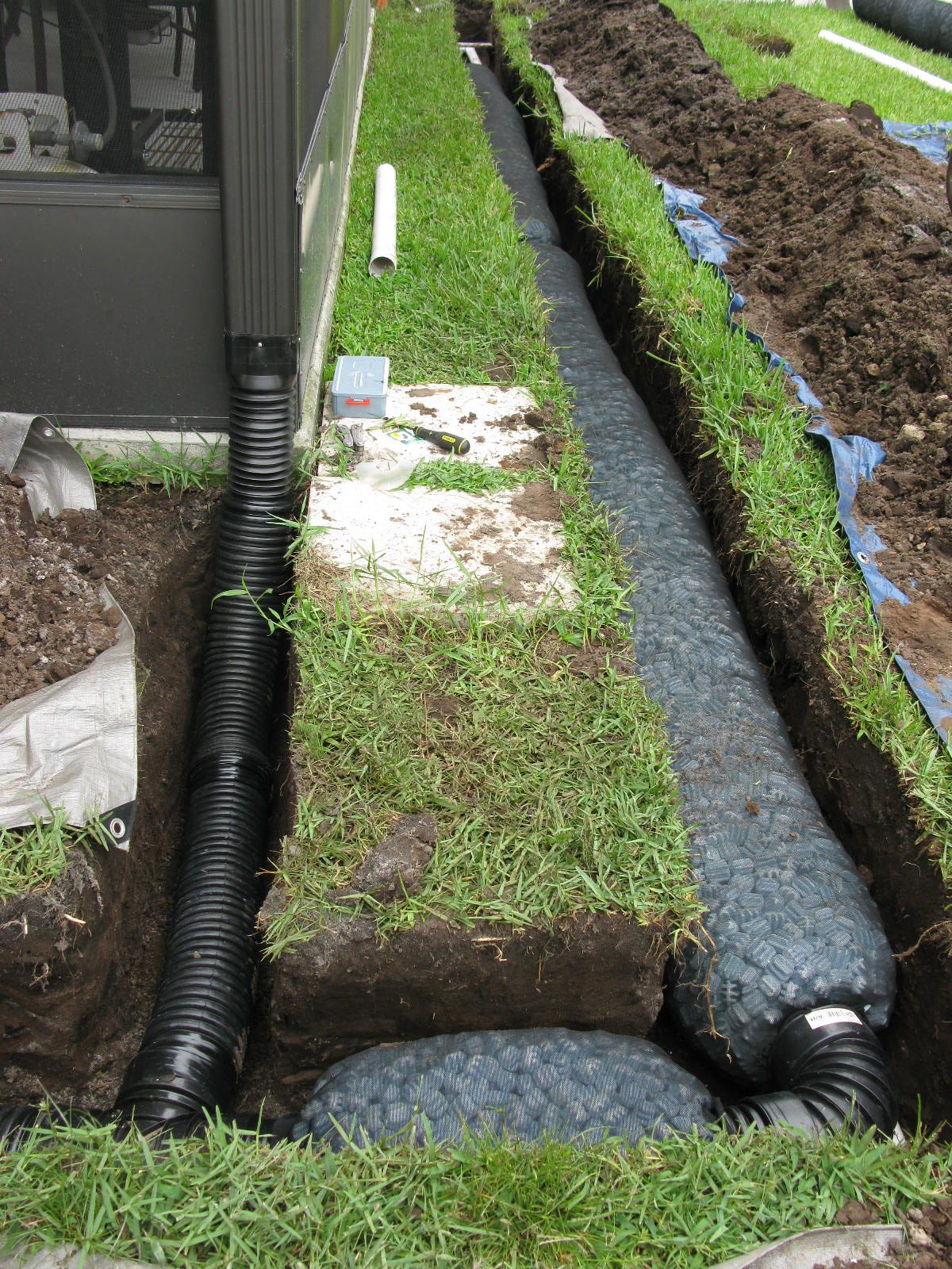 Connect Downspouts Into French Drain For Greater Efficiency Jpg