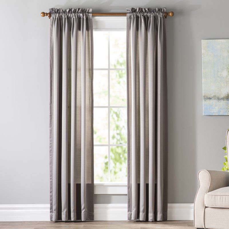 Wayfair Basics Wayfair Basics Solid Room Darkening Grommet Curtain Panel Size Per Panel 40 W X 63 L Curtain Colour Marine Panel Curtains Grommet Curtains Curtains