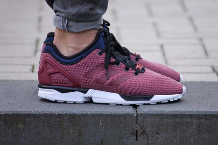 Picture Of A First Look At The Adidas Originals Zx Flux Nps Core Burgundy Mens Nike Shoes Burgundy Sneakers Nike Free Shoes