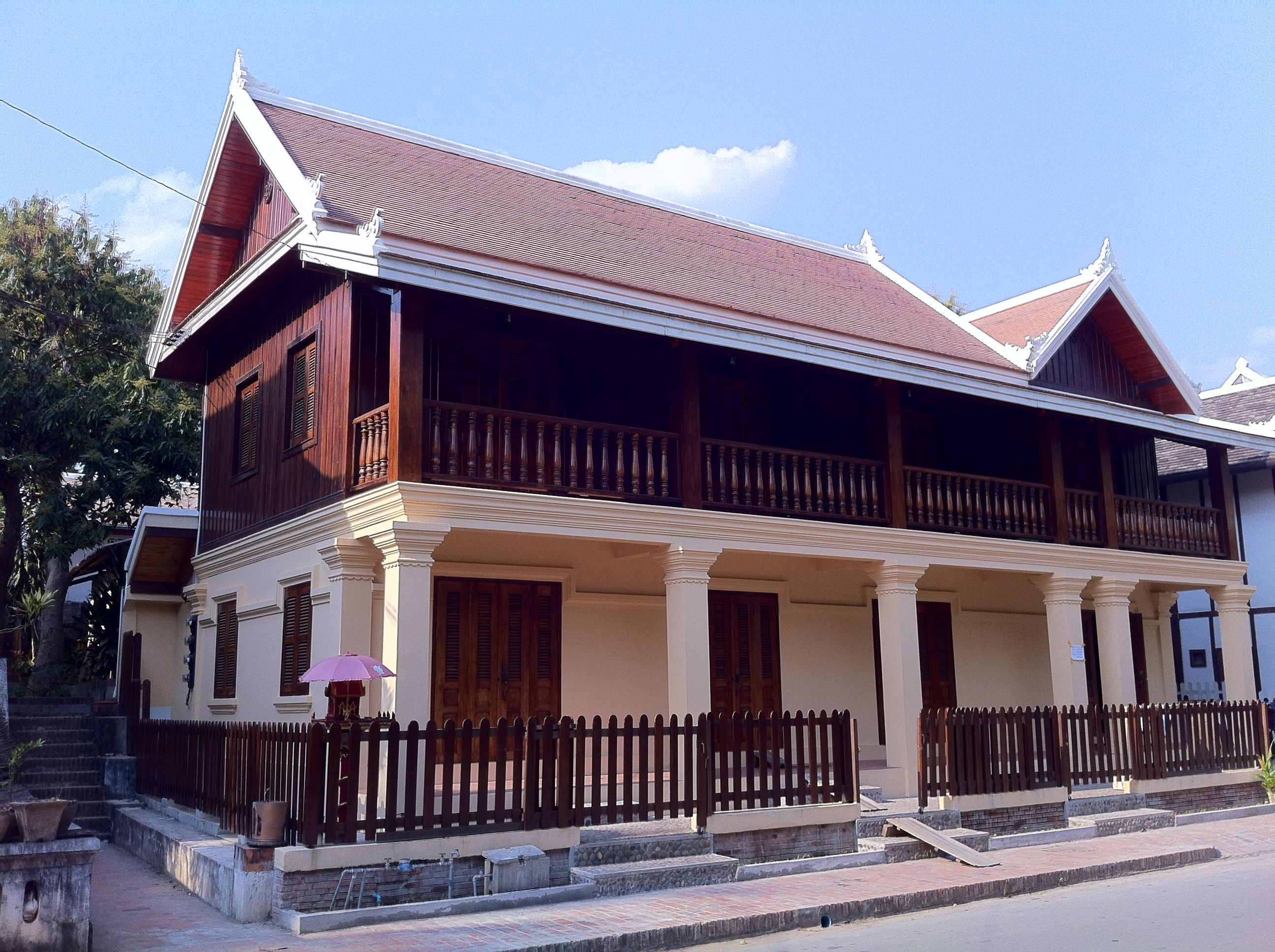 Modern Luang Prabang, Laos Architecture In The French Colonial Style