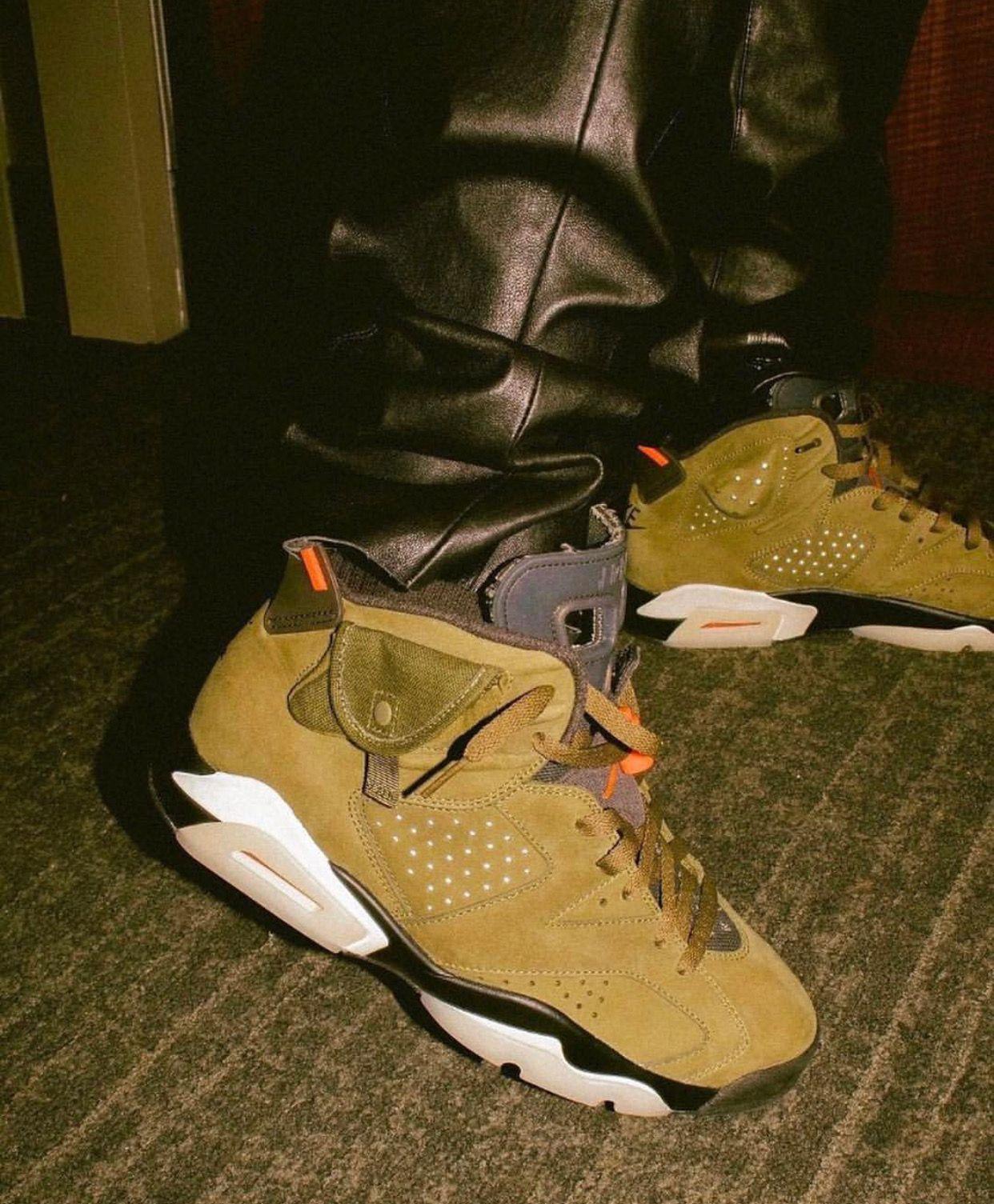 Jordan 6 Travis Scott Air Jordans Retro Shoes Sneakers