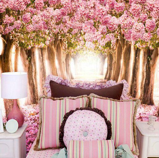 Pas cher Grand peintures murales floraux 3D pour salon photo papier