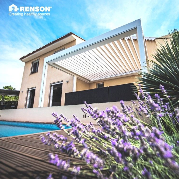 The Renson Skye Is Our State Of The Art Patio Cover Its Rotating And Sliding Louvre Blades Offer You The Ultimate Outd Louvered Patio Covers Skye Patio