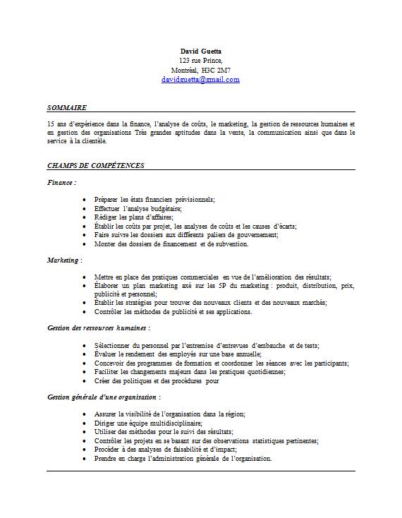 top competences cv