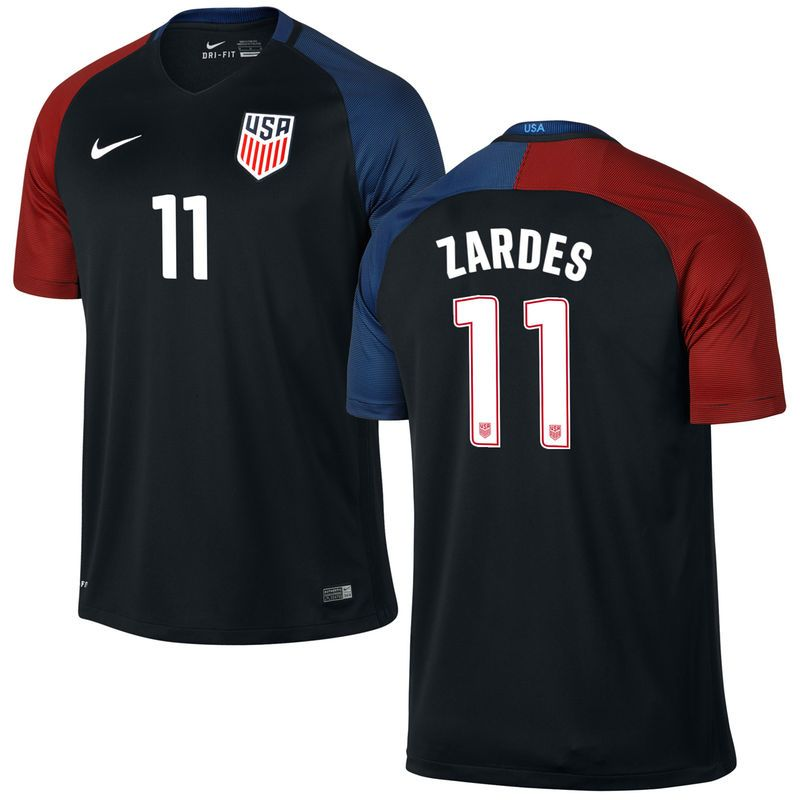 Gyasi Zardes US Soccer Nike Away Replica Stadium Jersey - Black