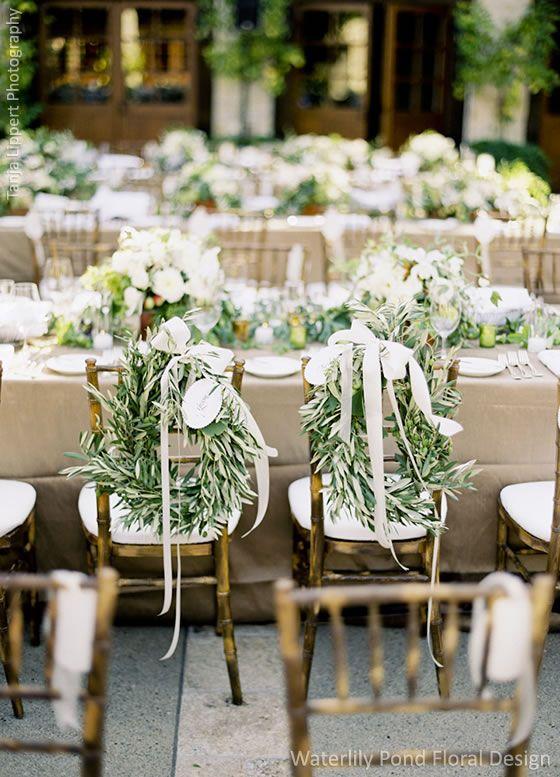 Chair Decor Waterlily Pond San Francisco Wedding Flowers Bay Area Fl Designer Bold