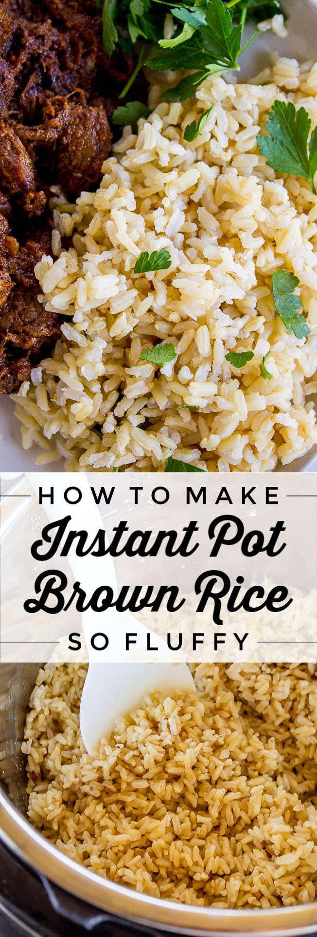 How to Make Instant Pot Brown Rice from The Food Charlatan