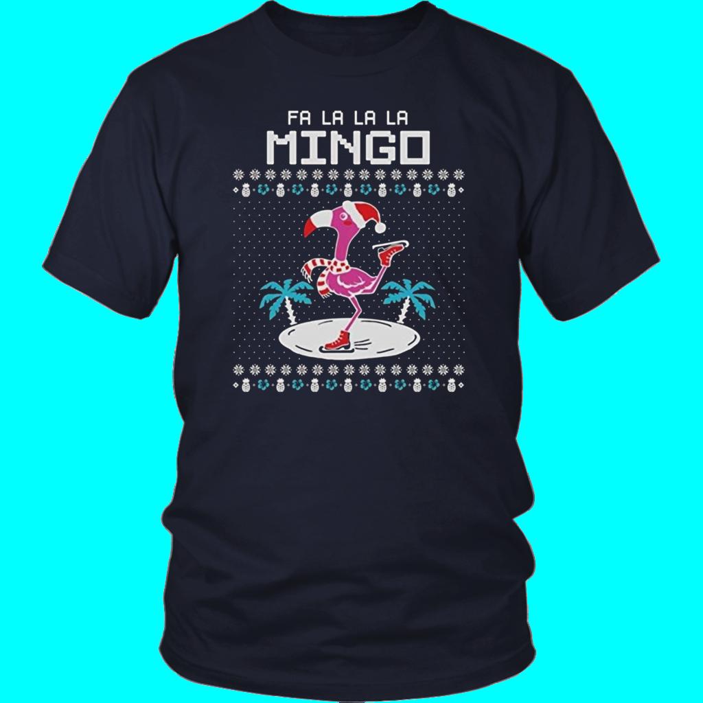 Fa La La Flamingo Ugly Christmas Sweater Funny Xmas Women Sweatshirt Gift Idea