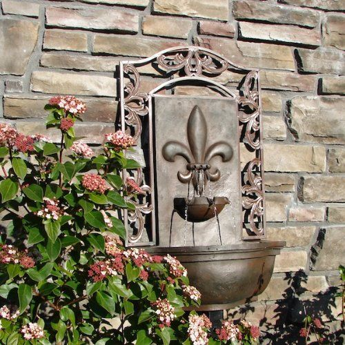 The Bordeaux - Outdoor Wall Fountain - Weathered Bronze - Water
