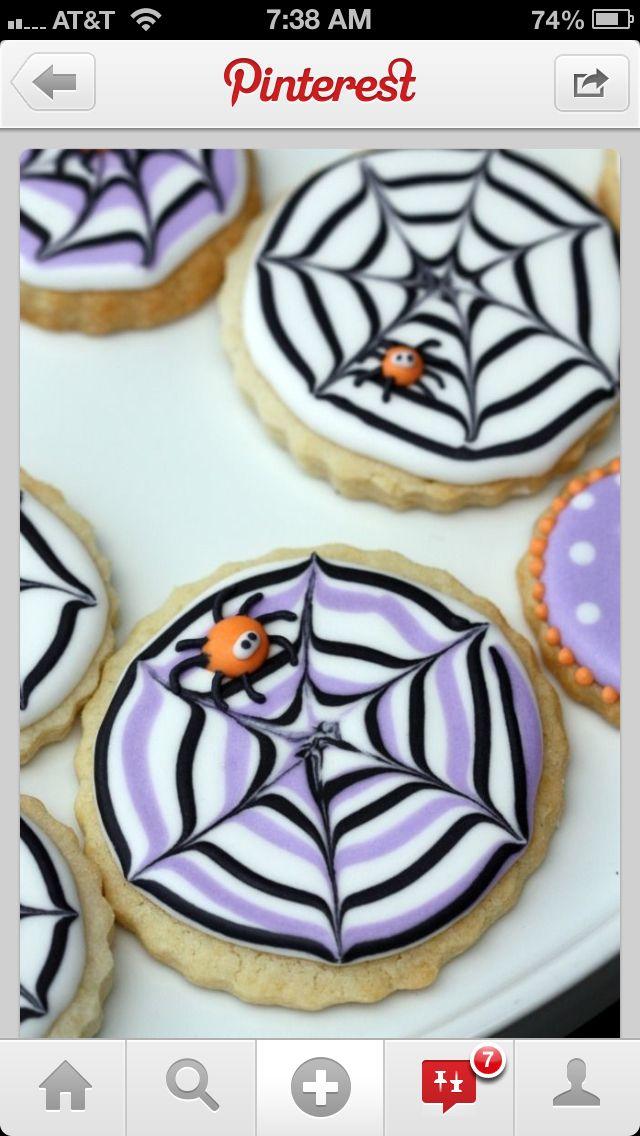 Halloween decorated cookies Halloween Pinterest Halloween - halloween decorating cupcakes
