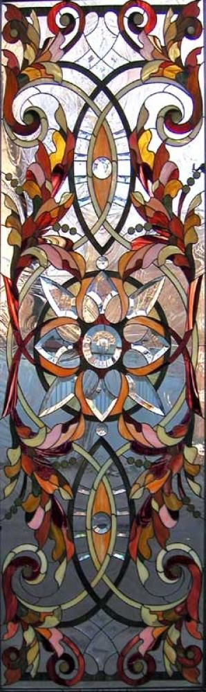 Stained glass panel - I usually don't go for stained glass, but this is beautiful!!
