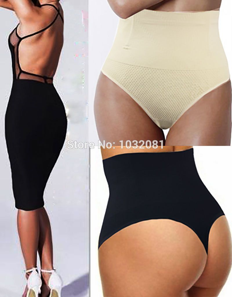 c0cd119c628 2015 steel boned post-partum Women underwear Seamless Mid Waist Thong  Shaper waist cincher tummy Control panties pant Butt E51A -- Read more  reviews of the ...