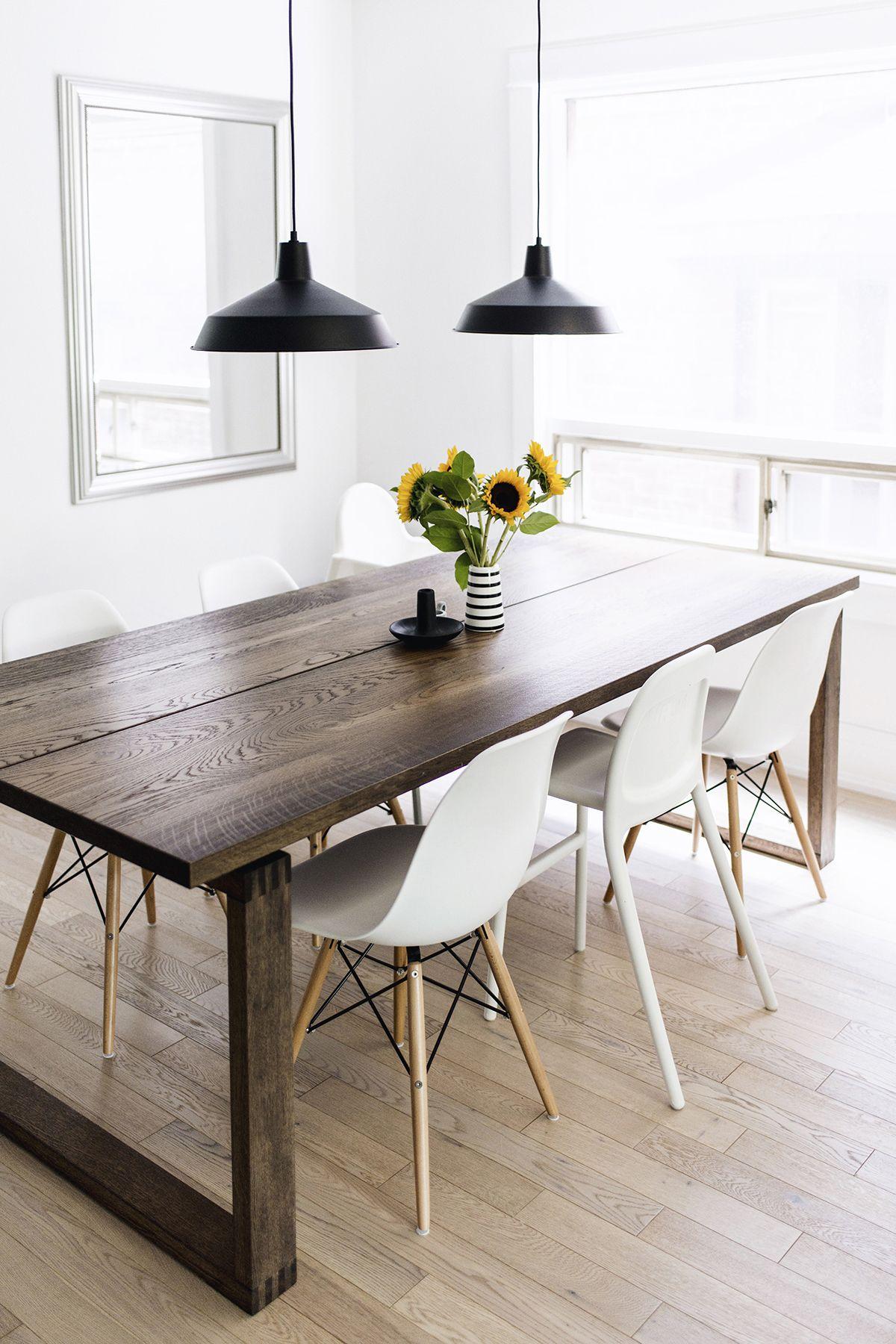 Scandinavianinspired dining room mörbylånga table eames chairs
