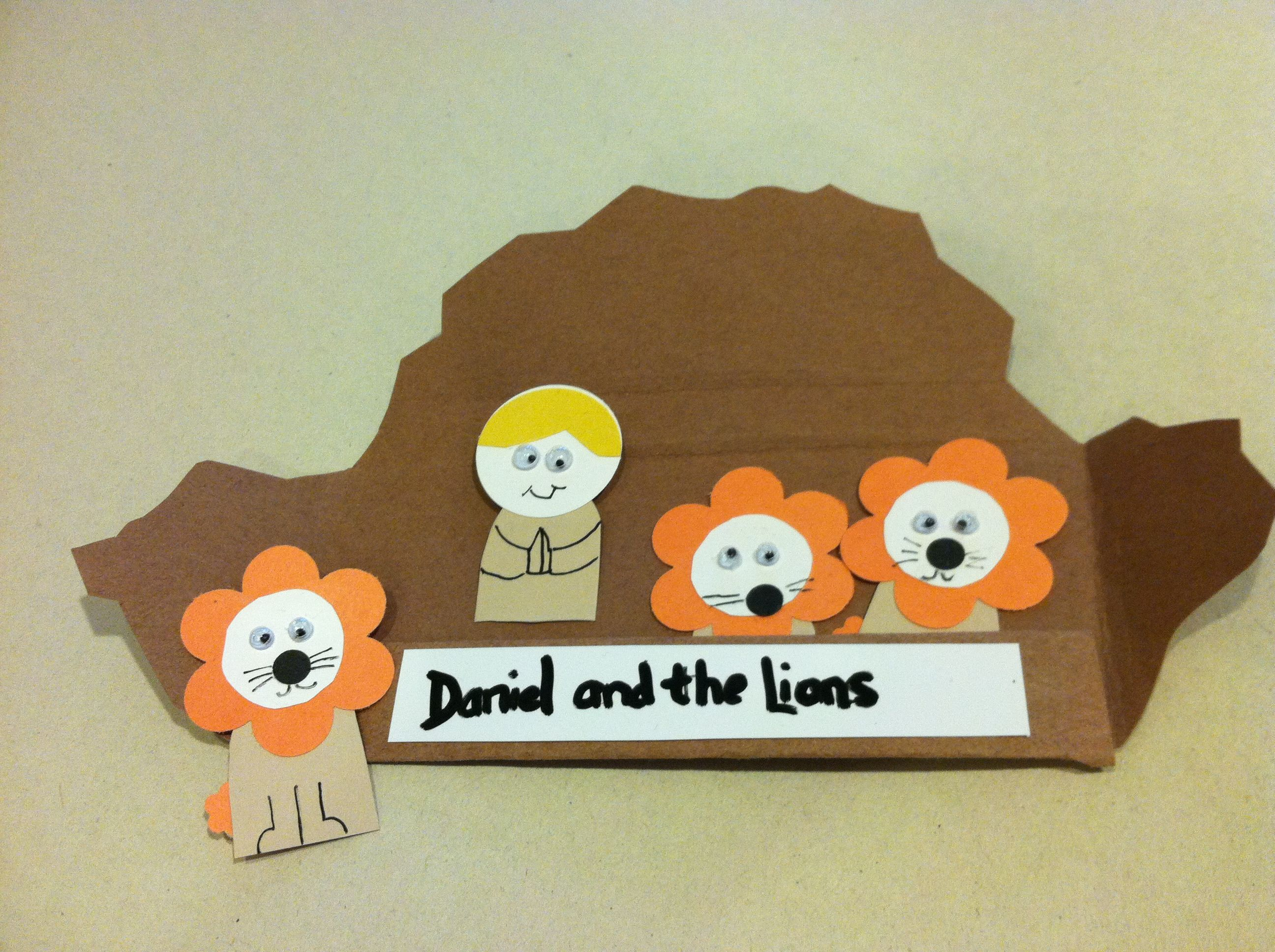 Daniel in the lions den bible craft | Bible Study Ideas ...