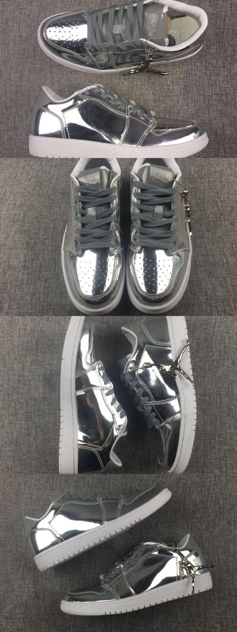 2020 的 Air Jordan 1 Low Pinnacle Metallic Silver For 主题
