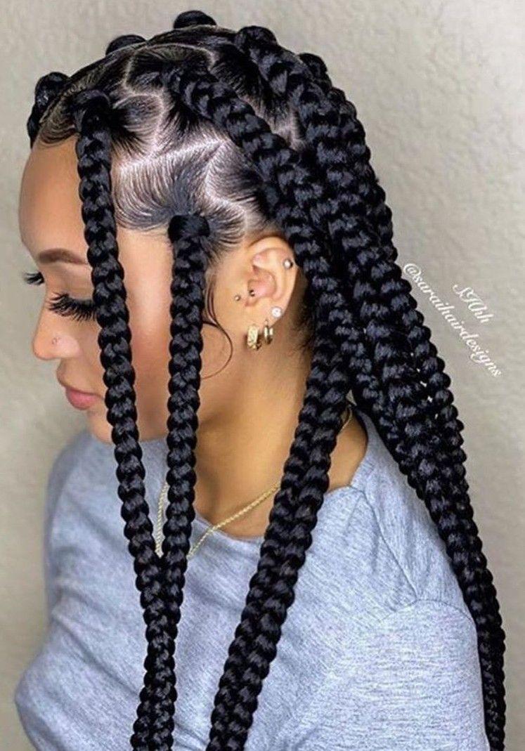 Epingle Par Ketsia Louis Sur Tresses Africaines Tresses Fillette Idee Coiffure Cheveux Crepus Coiffure Swag