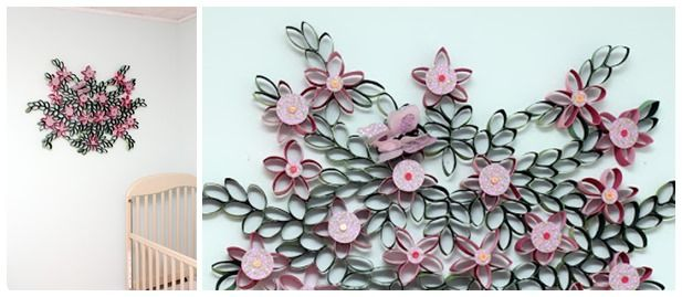 Diy Toilet Paper Roll 3d Flower Wall Art Toilet Paper Roll
