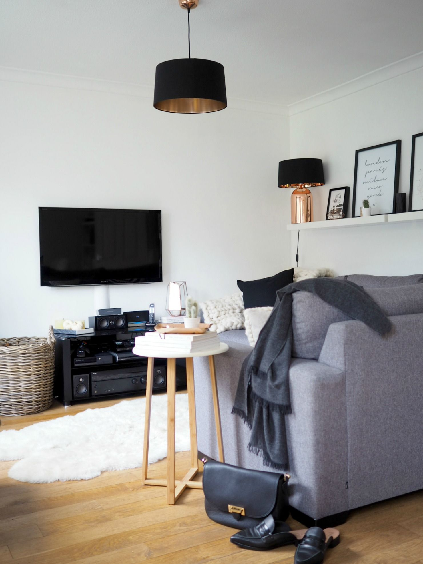 Living Room Makeover | Grey corner sofa, Sofa side table and Living ...